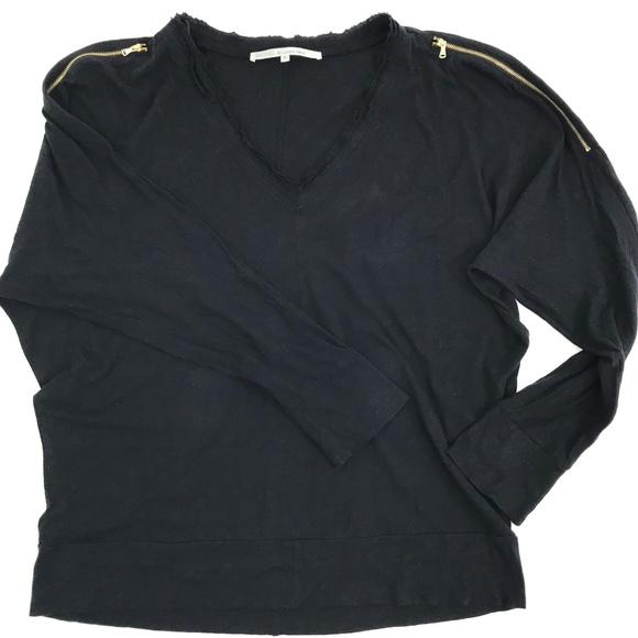 RACHEL Rachel Roy Tops - RACHEL Rachel Roy Long Sleeve Zip Shoulders Top XL